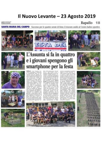 Articolo Il Nuovo Levante 23Aug2019