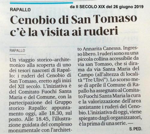 San Tomaso - secoloxix29062019